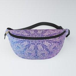 big paisley mandala in light purple Fanny Pack