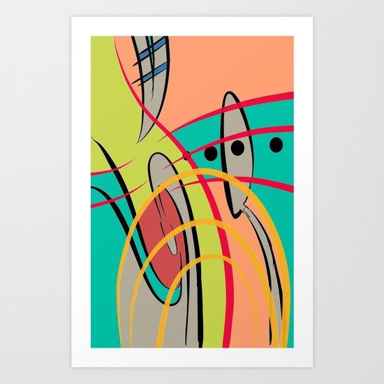 COLOR SPOON Art Print
