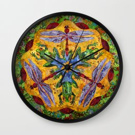 Toad & Dragonfly Wall Clock