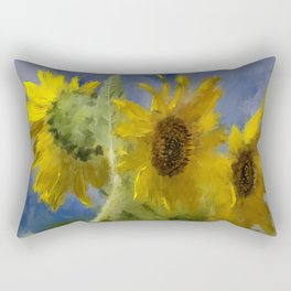 An Impression Of Sunflowers In The Sun Rectangular Pillow