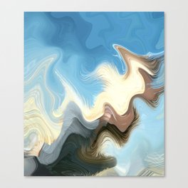 Hair Puzzle: digital abstract art Canvas Print