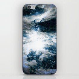 Orion Nebula Blue & Gray iPhone Skin