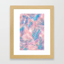 Palm Leaves - Iridescent Pastel Framed Art Print