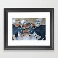 Deer Cubed Framed Art Print