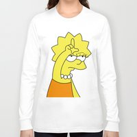 simpson Long Sleeve T-shirts featuring Lisa Simpson Loser by hunnydoll