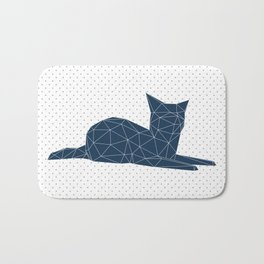 Faceted Cat Bath Mat