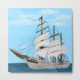 203. Sailboat / Tall Ship Metal Print