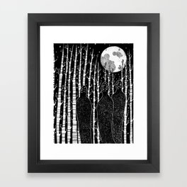 The People in the Forest Framed Art Print