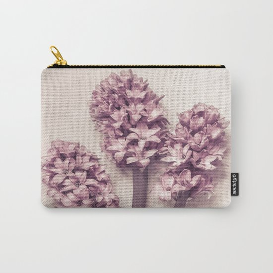 Three Pink Hyacinths Carry-All Pouch