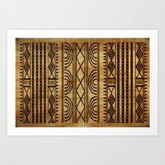 African Weave Art Print