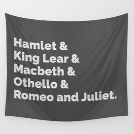 The Shakespeare Plays I Wall Tapestry