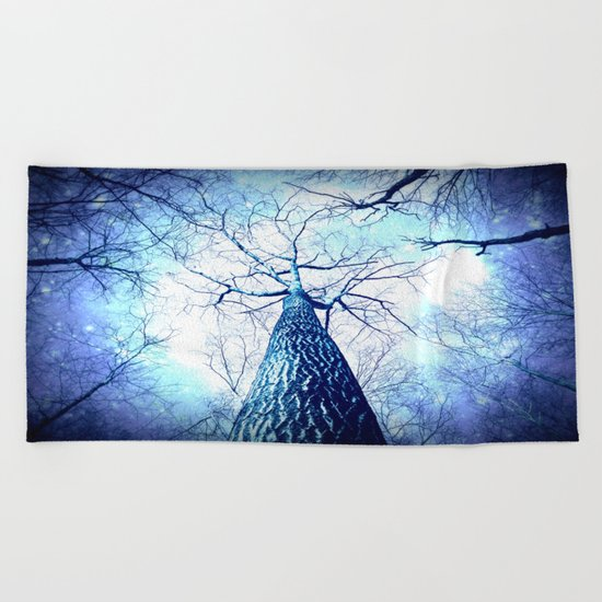 Winter's Coming : Wintry Trees Beach Towel