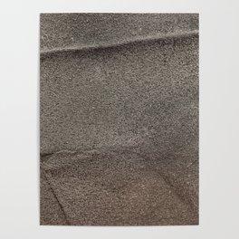 Crumpled Sandpaper Texture Poster