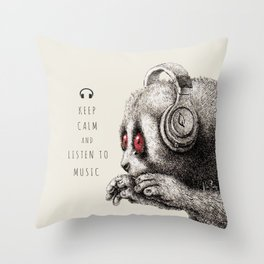 DJ SLOW LORIS Throw Pillow