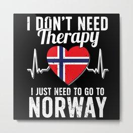 Norway flag I Norwegian Souvenirs Metal Print