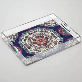 Colorful Mandala Pattern 007 Acrylic Tray