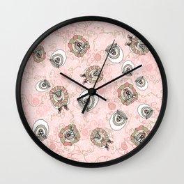 Sheep Coming Unraveled Wall Clock