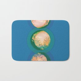 Tree Blue and Coral Bath Mat