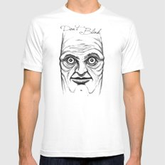 Don't Blink MEDIUM White Mens Fitted Tee