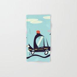 Cartoon Police Car Hand & Bath Towel