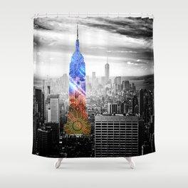 Funky Landmark - NY Shower Curtain