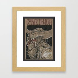 Cyberdemon (DRAWLLOWEEN 10/31) Framed Art Print
