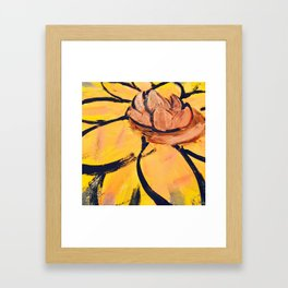 Lotus Painting by: The Tea Confidential Framed Art Print