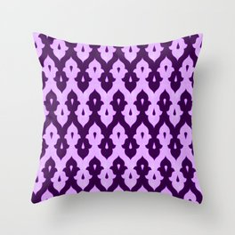 Mauresque Counterchange (Lilac) Throw Pillow