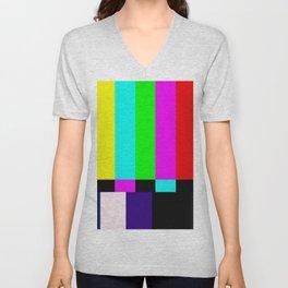 No Signal TV Unisex V-Neck