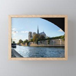 Notre Dame de Paris from under the Pont de l'Archeveche - Paris Framed Mini Art Print