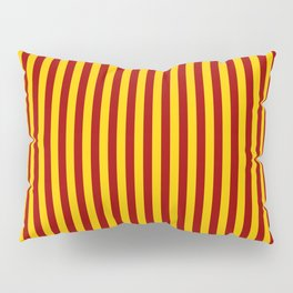 Cardinal and Gold Vertical Stripes Pillow Sham