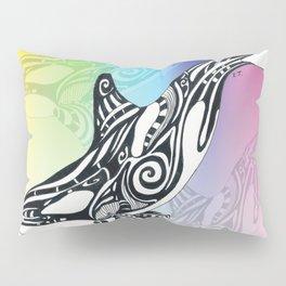 Orca Whale Rainbow Tribal Tattoo Art Pillow Sham