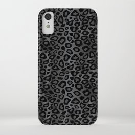 Gray and Black Exotic Leopard Animal Pattern iPhone Case