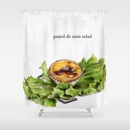 La Cuisine Fusion - Pastel de Nata Salad Shower Curtain