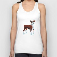 boxer Tank Tops featuring Boxer by Cathy Brear