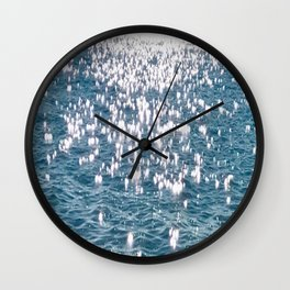 Sparkling Ocean Water Wall Clock