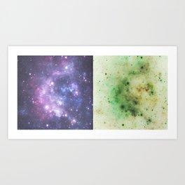 Cosmic Bacteria Art Print