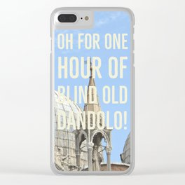 Blind old Dandolo (light) Clear iPhone Case
