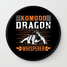 Komodo Dragon Whisperer Wall Clock