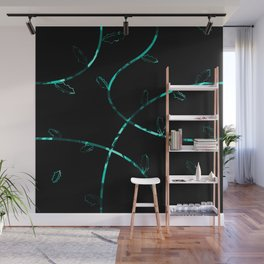 Jagged leaves, light blue Wall Mural