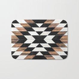 Urban Tribal Pattern No.13 - Aztec - Concrete and Wood Bath Mat