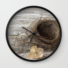 Found Bird Nest Wall Clock