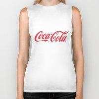 coca cola Biker Tanks featuring Coca Cola by ZenthDesigns