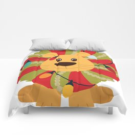 Your Big Cat in Decorative Christmas Wreath Comforters