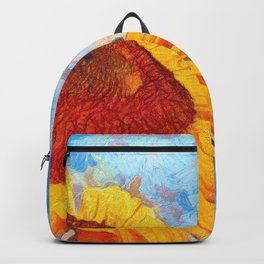Hello Sun Sunflower  Art Backpack