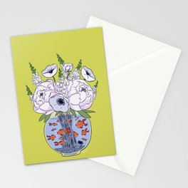 Goldfish Flowers Stationery Cards