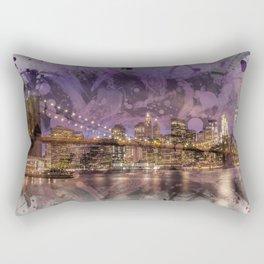 Modern Art BROOKLYN BRIDGE Sunset Rectangular Pillow