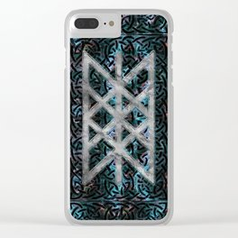 Web of Wyrd The Matrix of Fate - Silver & Gemstone Clear iPhone Case
