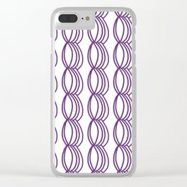 Purple loops Clear iPhone Case