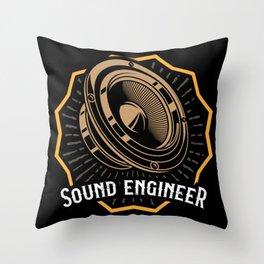 RETRO Sound Guy Gift Sound Engineer Sound Crew Throw Pillow
